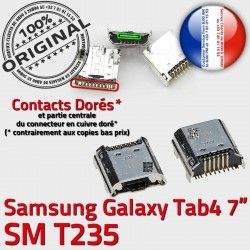 Galaxy Samsung Dock SM-T235 Dorés de Connector à Qualité souder USB TAB4 SLOT Prise Chargeur Tab4 ORIGINAL charge Fiche MicroUSB Pins