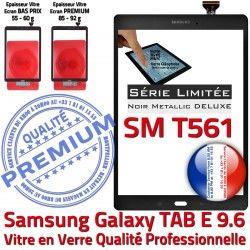 Noir Metallic Adhésif PREMIUM N Ecran Verre SM-T561 9.6 Noire Qualité Metal Galaxy Vitre T561 Tactile TAB-E Assemblé Samsung Assemblée SM