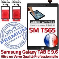PREMIUM Noire Samsung Adhésif Vitre Metal Assemblé Verre Ecran Assemblée Tactile T565 Noir SM-T565 SM 9.6 Galaxy Metallic TAB-E N Qualité