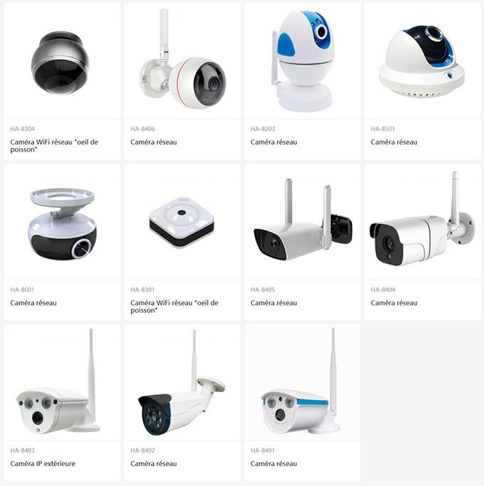 Caméra TCP/IP Wifi & Ethernet